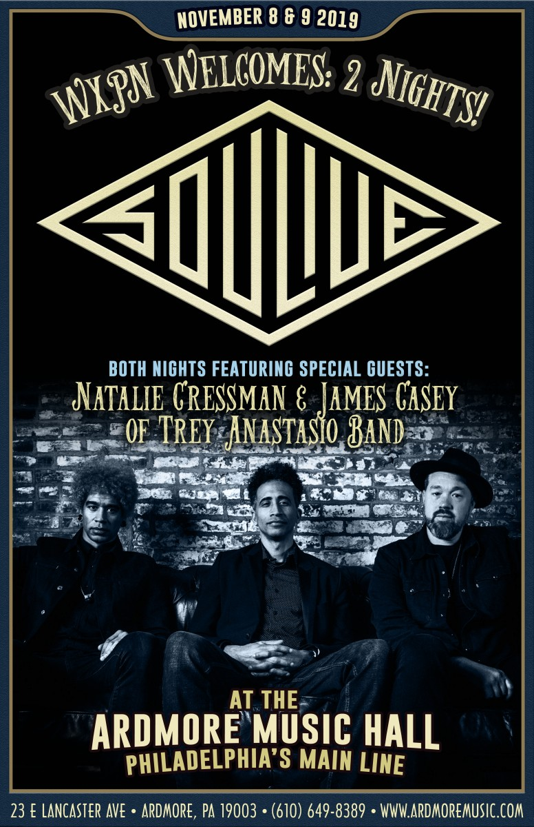 Soulive returns to Ardmore for two nights of funk with special guests in November