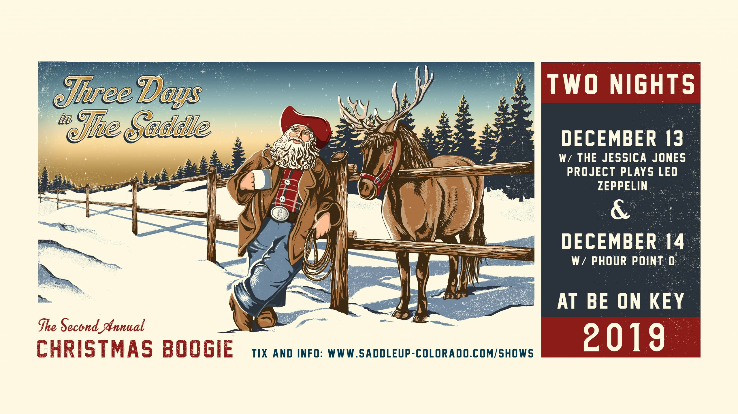 Show Preview: Xmas Boogie with Three Days in the Saddle