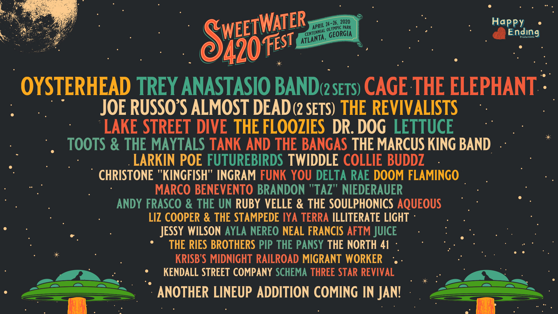 Sweetwater 420 Fest Adds Cage the Elephant to Join Oysterhead & Trey Anastasio Band