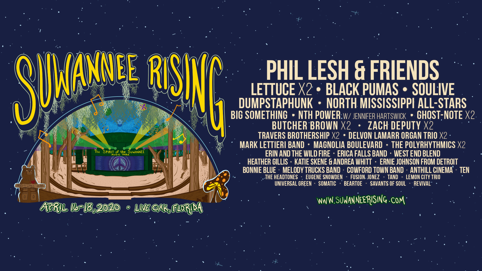 Suwannee Rising Announces 2020 Lineup!