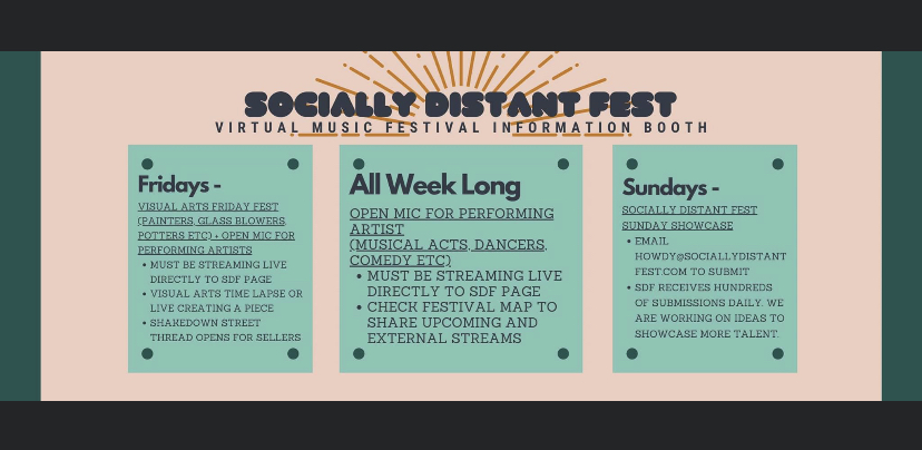 Exploring Socially Distant Fest – Love Cannot be Quarantined