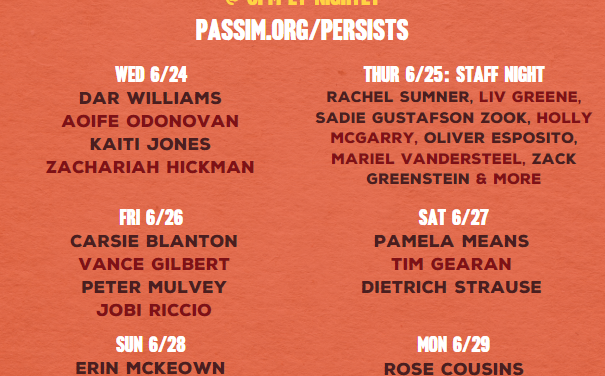Club Passim Announces the Passim Persists Streaming Festival